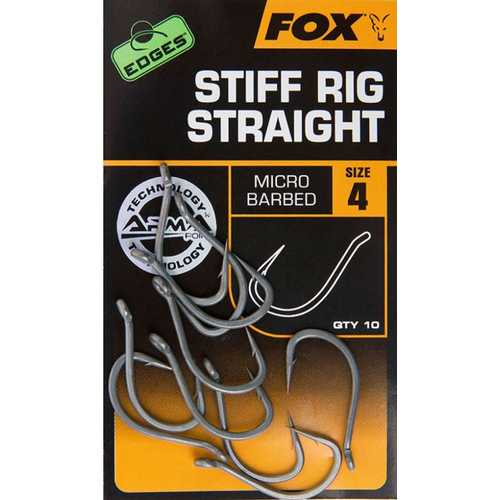 FOX Edges - Stiff Rig Straight  Gr. 4,5,6,7 und 8