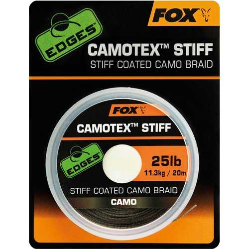 FOX Edges - Camotex Stiff Coated Camo Braid 20 und 25 lb - 20 m