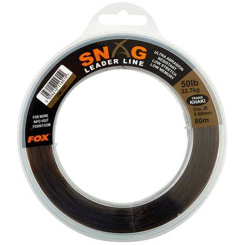 FOX Edges - Snag Leaders Camo 50 lb 80 m
