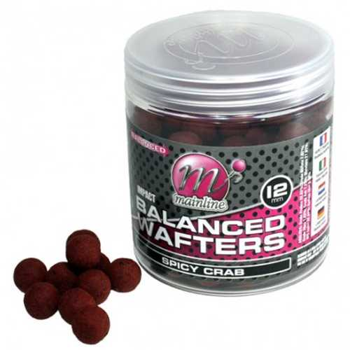 Mainline - High Impact Balanced Wafters Spicy Crab - 12 mm