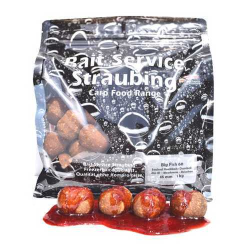 BSS - Soaked Hookbaits 1 kg Nutty - 35 mm Dumbell - 35 x 26 mm