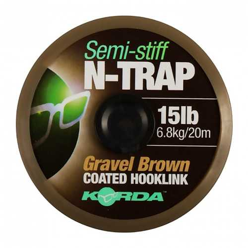 Korda N-Trap Semi-Stiff Gravel Brown 20m