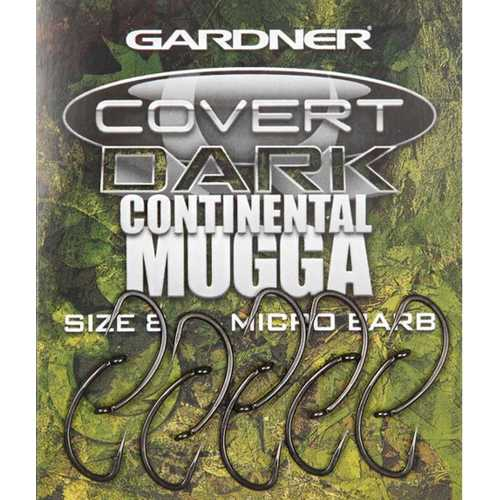 Gardner - Covert Dark Continental Mugga Hook Gr. 2, 4, 6...