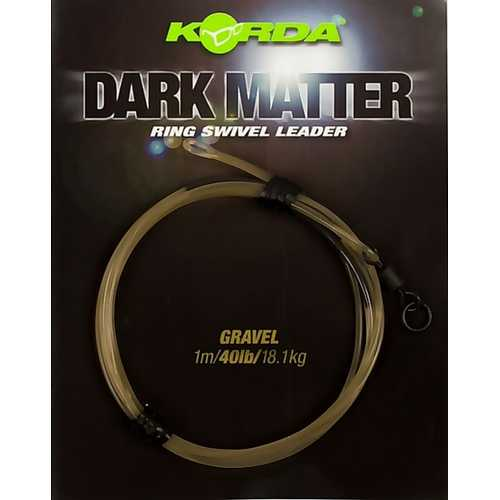 Korda - Dark Matter Ring Swivel Leader 40 lb