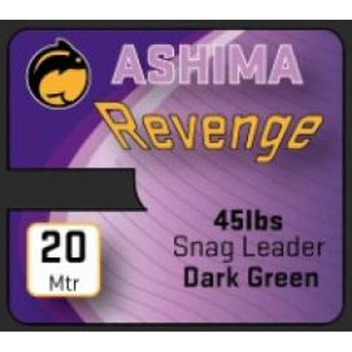 Ashima Revenge 45lbs Snag Leader Dark Green 20m