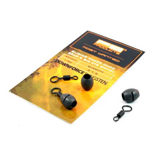 PB Products Downforce Tungsten Sliding Naked Chod Bead & Big Eye Swivel